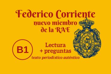 Federico Corriente, nuevo miembro de la RAE – B1
