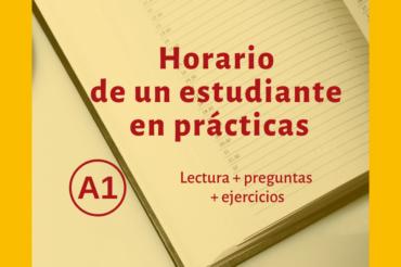 Horario de un estudiante  en prácticas – A1